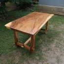 Meja Solid Trembesi Natural Kayu Utuh IJ-07 Solid Table