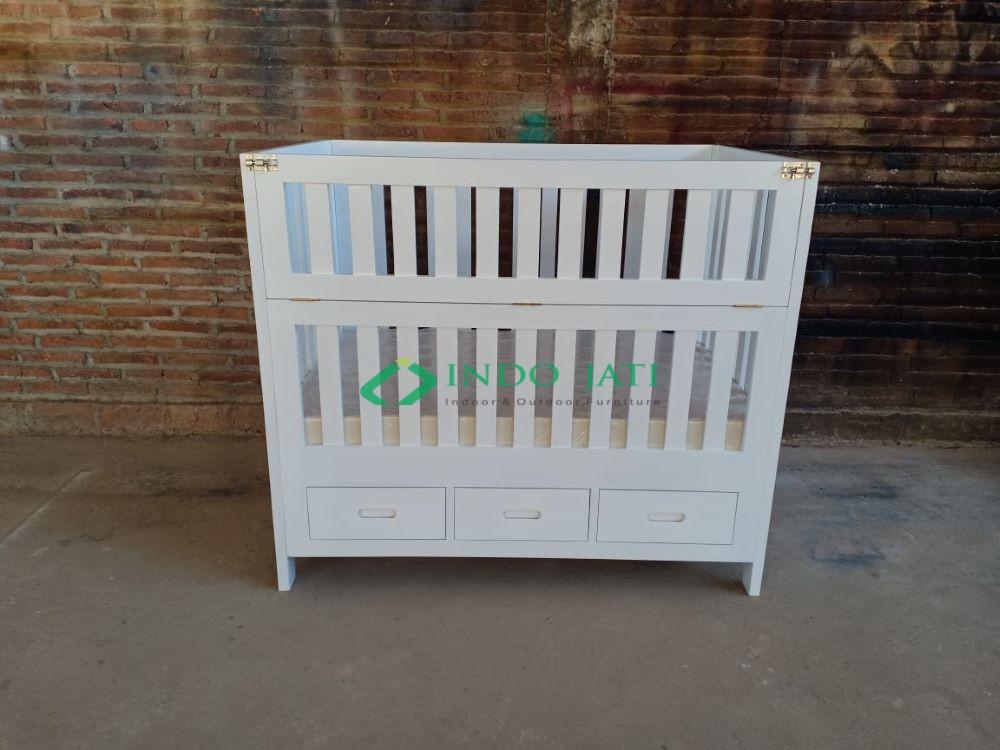 Tempat Tidur Box Bayi Minimalis Putih, Ranjang Bayi, Box Bayi Murah, Tempat Tidur Bayi, Tempat Tidur Bayi Kayu Jati, Baby Tafel, Jual Box Bayi, Perajin Box Bayi, Furniture Untuk Bayi, Tempat Tidur Bayi Kembar, Box Bayi