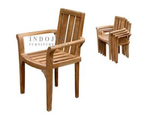 Teak-outdoor-stacking-chairs-Manufacturer-Jepara