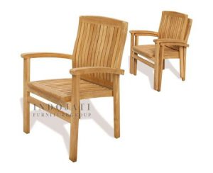 Teak-outdoor-stacking-chairs-Indonesian-factory