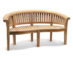 Curved Peanut Bench Large Arm (158x56x88cm)