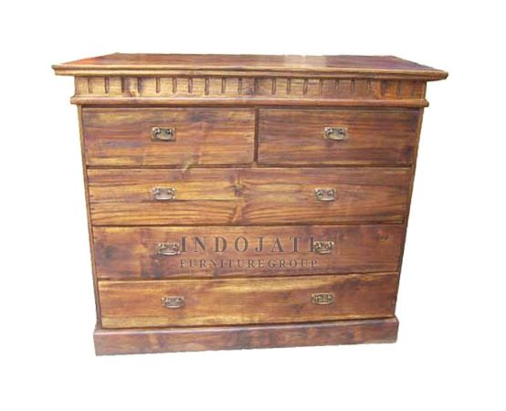 Teak Wood Chest Of Drawers