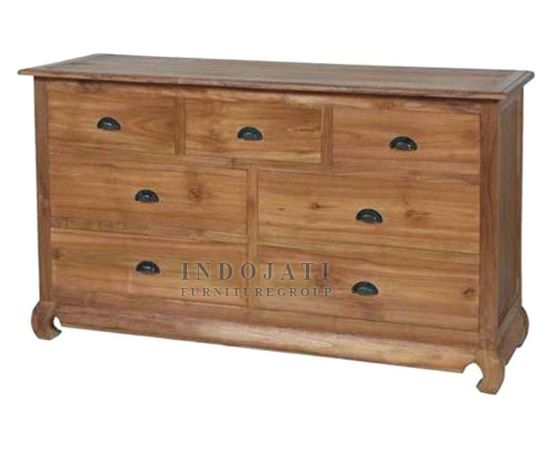 Solid Wood Chest of Drawers Sideboard
