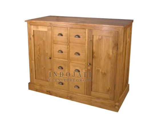 Wood Drawers Sideboard Jepara