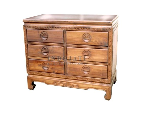 Teak Wood Drawers Cabinet Factory
