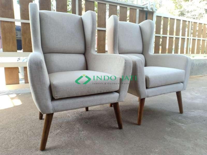 Kursi Sofa Whing Chair Furniture Jepara