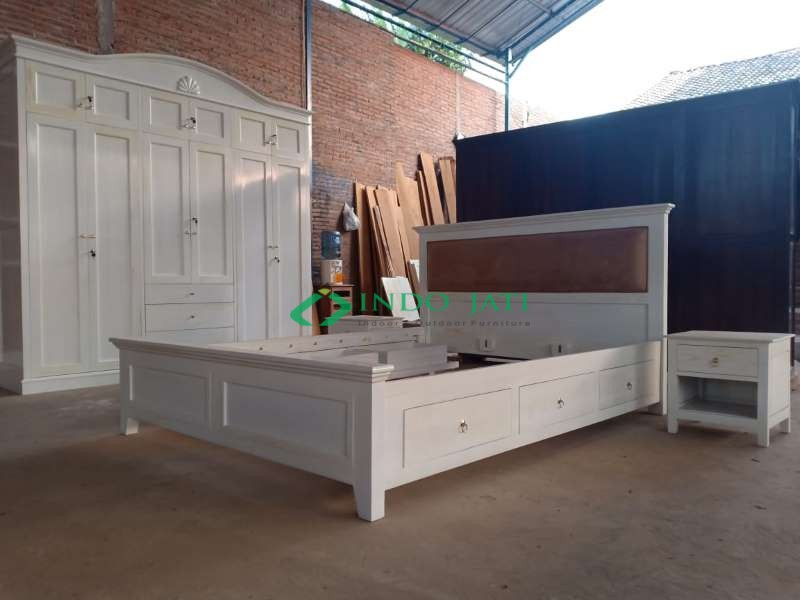 Set Kamar Jati Minimalis Duco Antique