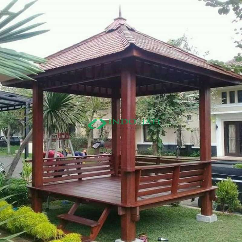 Gazebo Minimalis Taman Rumah