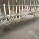 Kursi Pelaminan Set Klasik Gold