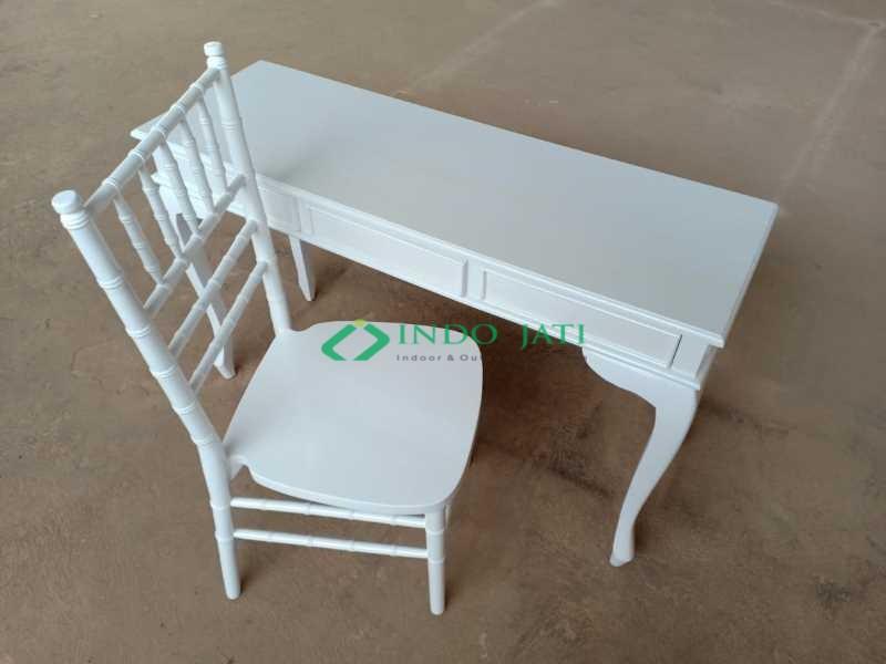 Meja Console Duco Putih