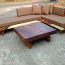 Sofa Sudut Mewah Solid Trembesi