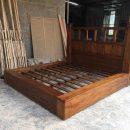 Tempat Tidur Minimalis Jati Rustic