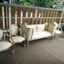 Set Sofa Pelaminan Mewah Gold