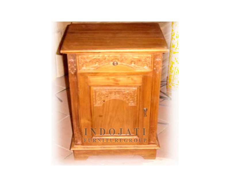 Solid Teak Wood Nightstand Bedsides