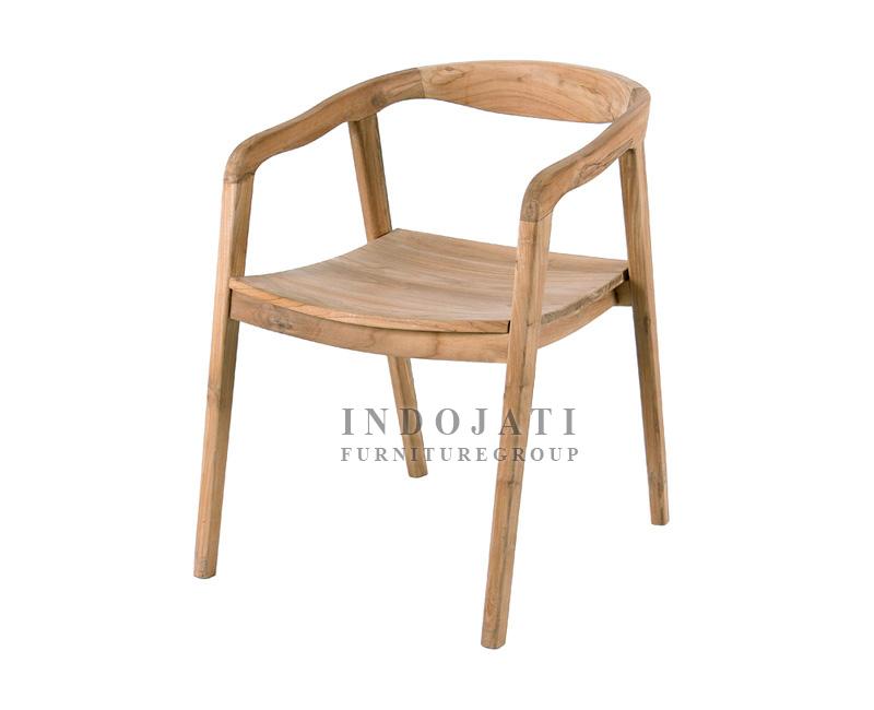 Minimalist Teak Dining Armchairs