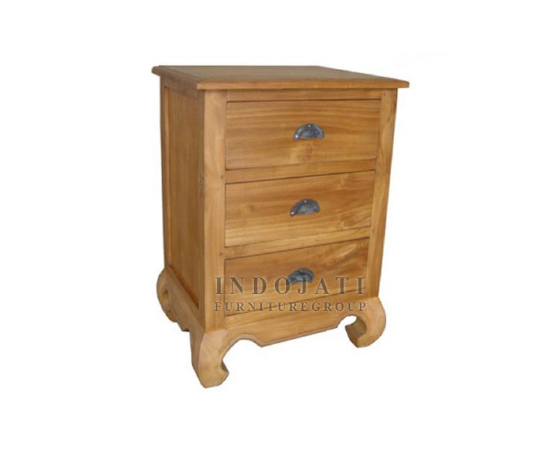 Teak Classic Nightstand Bedroom
