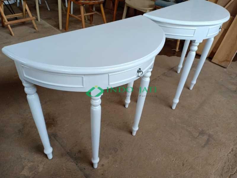 Meja Dinding Minimalis Putih