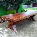 Meja Solid Suar Wood