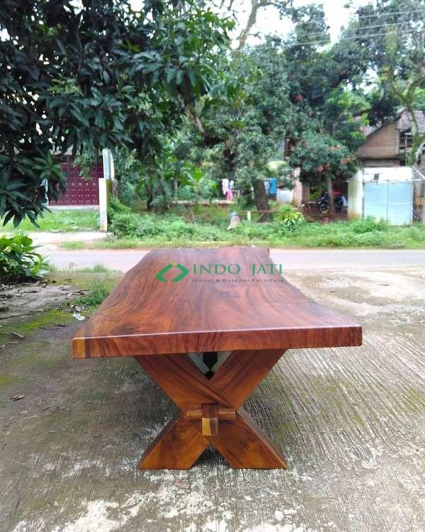 Meja Solid Suar Wood Kayu Utuh