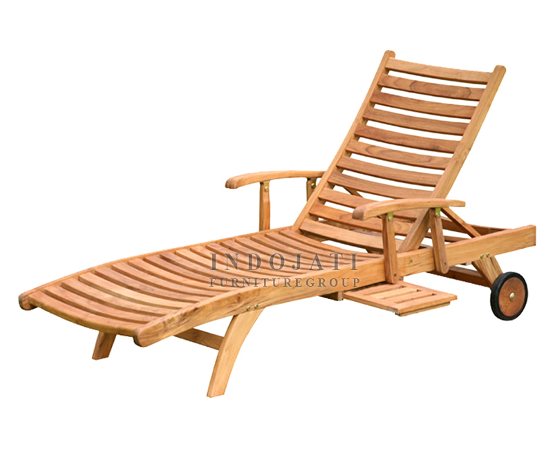 Teak Outdoor Sun Lounger Bed Indonesia