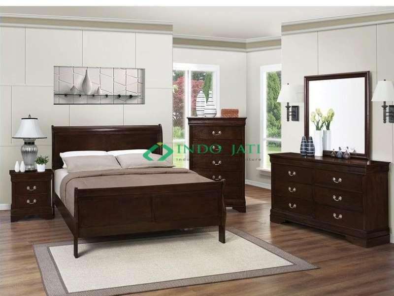 Set Tempat Tidur Jati Model Bagong