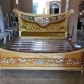 Tempat Tidur Jati Klasik Gold