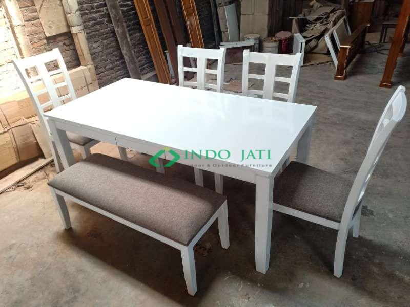 Set Kursi Makan Mewah Duco Putih