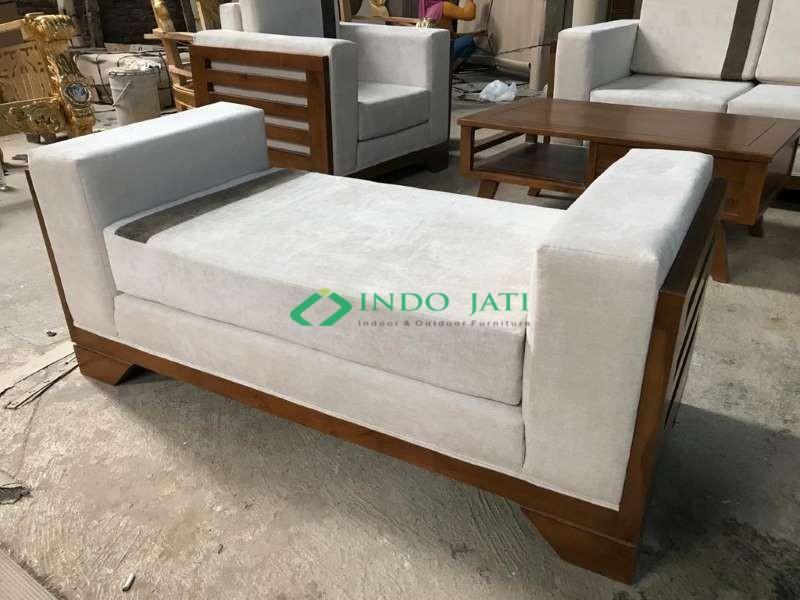 Set Sofa Jati Minimalis Mewah Jepara