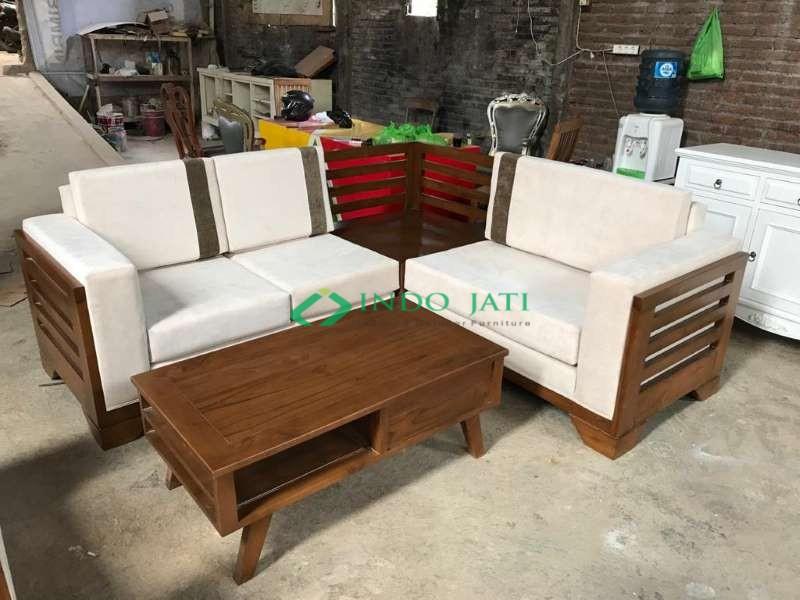 Set Sofa Jati Minimalis Mewah Murah