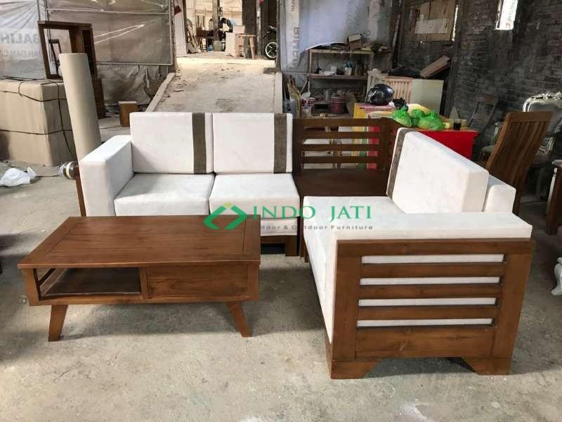 Set Sofa Jati Minimalis Mewah Terbaru