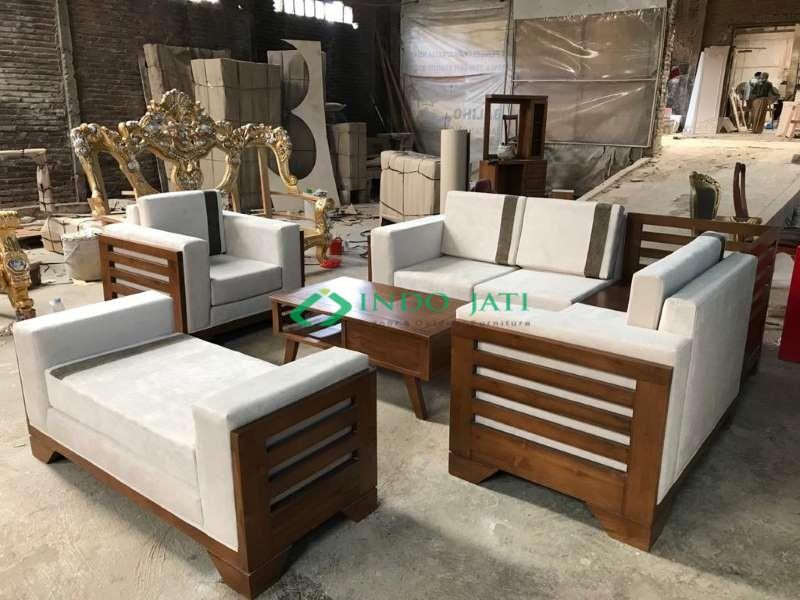 Set Sofa Jati Minimalis Mewah