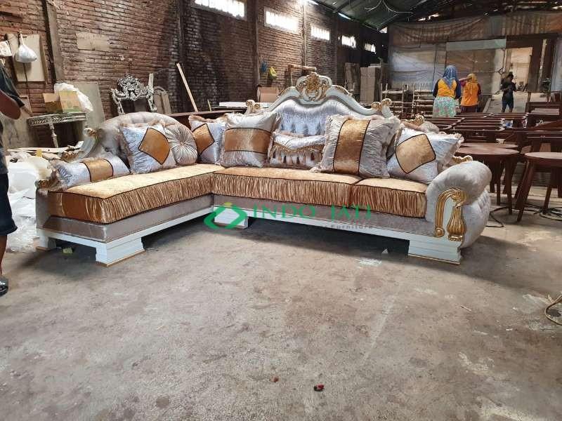 Sofa Sudut Klasik Mewah Terbaru