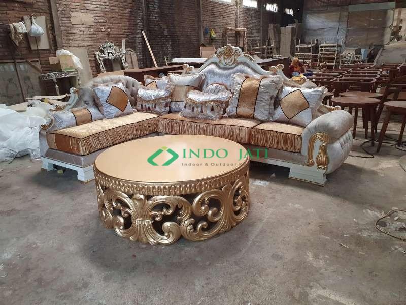 Sofa Sudut Klasik Mewah