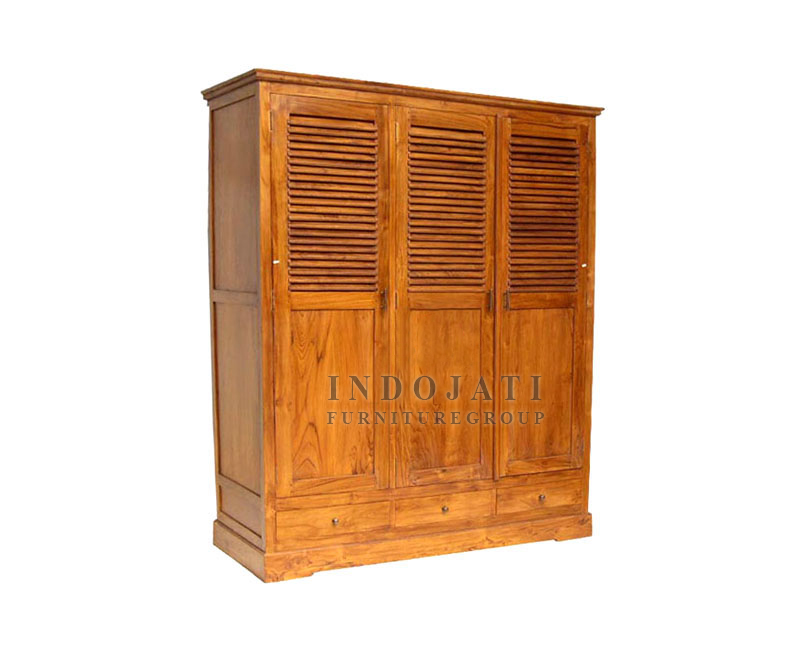 Solid Teak Wood Wardrobe Manufacturer