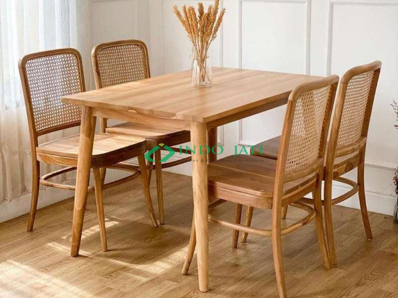 Teak Chairs Natural Rattan