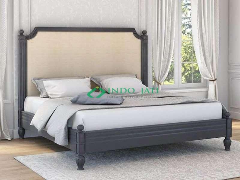 Teak Bed Minimalis Black