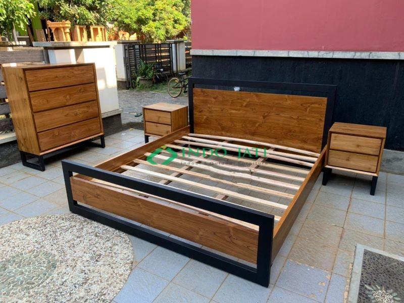 Tempat Tidur Set Jati Minimalis Mewah